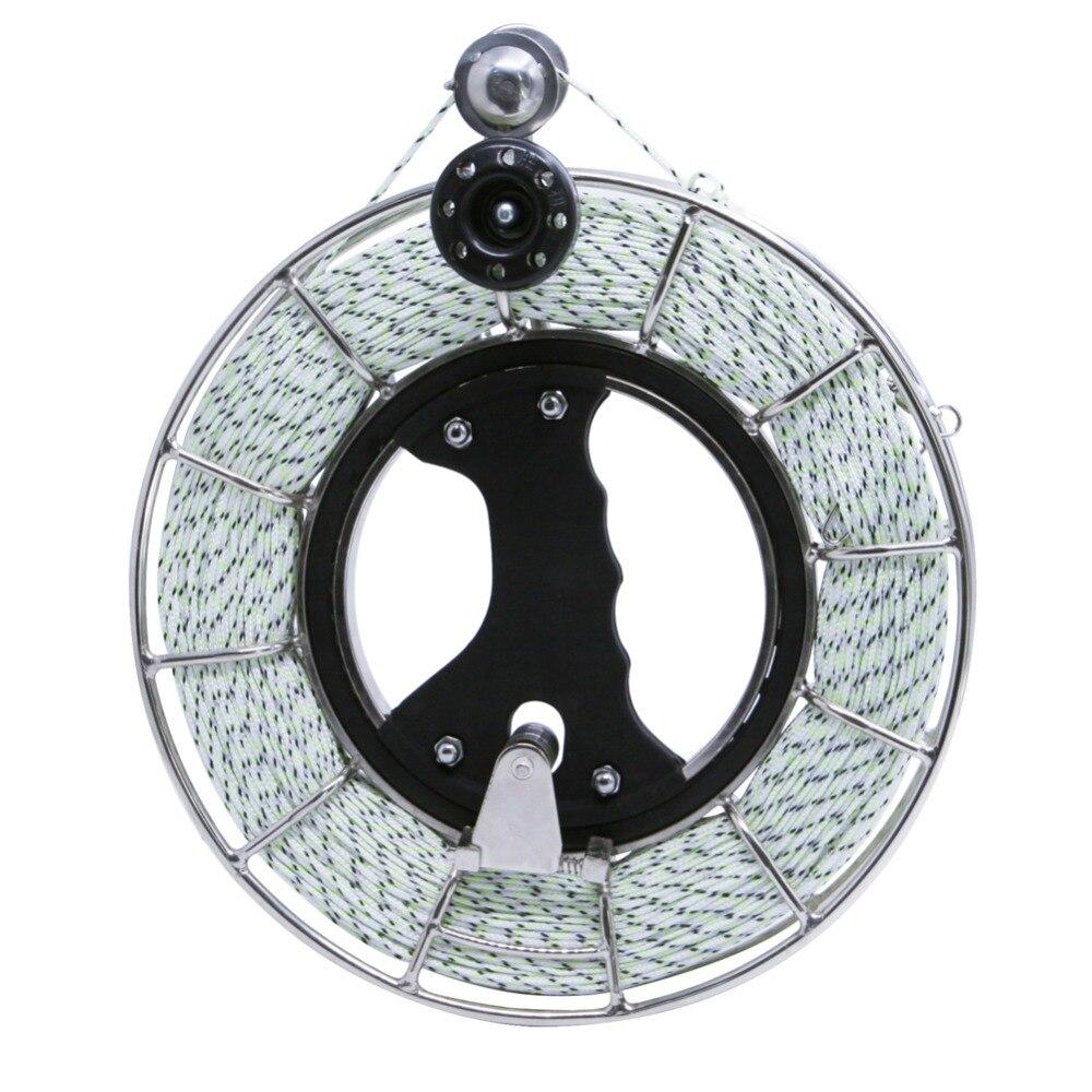 Enrouleur de chaîne de cerf-volant 24 cm enrouleur de ligne de cerf-volant en acier inoxydable avec ligne de cerf-volant Dacron 500ft 300lb
