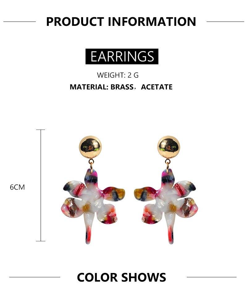 Acrylic Drop Dangle Bohemian Earrings 19 Big Statement Earrings for Women Resin Oval Square Geometric Boho Earrings Jewelry 1