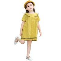 New Girls Casual Summer Dress Cotton Korean Version Preppy Baby Girl Dresses Baby Girls Dress Summer