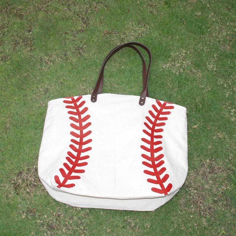 Bolso grande de Base ball al por mayor, en blanco, bolsa de lona de softbol para adultos 22L * 17H * 8W pulgadas DOMIL accesorios de equipo bolso DOM106281-in Cubos from Maletas y bolsas    3