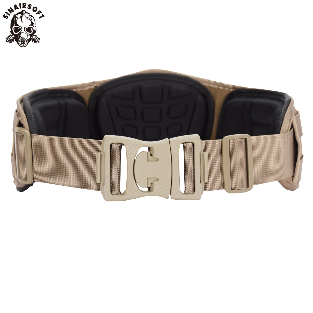 Men Army Military Camouflage MOLLE Girdle Tactical Outer Waist Belt Padded CS Belt Multi-Use Equipment Airsoft Wide Belts New