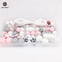 Let S Make Baby Teething Accessories DIY Crafts Beads Set Teething Jewelry Hand Made Pacifier Clip
