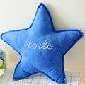 2016 1 unids 50 cm Creativo estrellas funda de almohada, estrellas cojines, gotitas decorativos sofá, extraíble y lavable