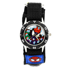 Childrens 3D Watch Spider-Man Gift Clock Luminous Hands Violet Table Cloth with Waterproof