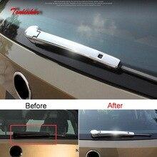 Tonlinker Cover Sticker for SKODA KODIAQ KAROQ 2017-18 Car Styling 2PCS ABS Chrome Exterior Rear wiper Decoration stickers