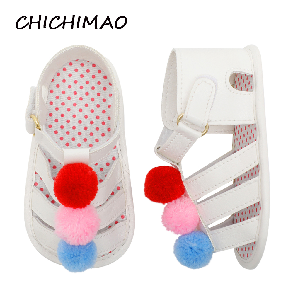 Shoes for Girls Infant Baby Girls Flower Anti-Slip PU Soft Sole Prewalker Toddler Non-Slip Summer Prewalker First Walkers