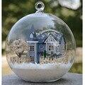 Mini Ángel de Hadas Bola De Cristal Casa de Ciudad, Hecho A Mano Casa De Madera Miniatura Juguetes para Niños de Cumpleaños Regalo de Cumpleaños