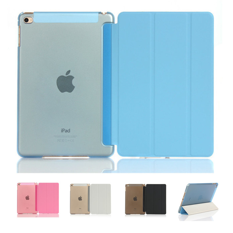 Ultra Slim PU Smart Flip Stand PU Leather Cover Case For iPad Mini 1 2 3 4 Wake Up Sleep Function