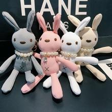 2019 New Pluff Bunny Keychain Rex Genuine Rabbit Fur Key Chains For Women Bag Toys Doll Fluffy Pom Pom Lovely Pompom Keyring 2017 new trinket rabbit fur pompom keychain bunny keychains on bag totoro keychain fur pom pom charms for bags anime
