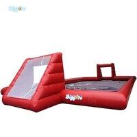 Inflatable Biggors Красный Цвет Надувные Футбольное Поле Надувные Мыло Футбол Курс Для Продвижения
