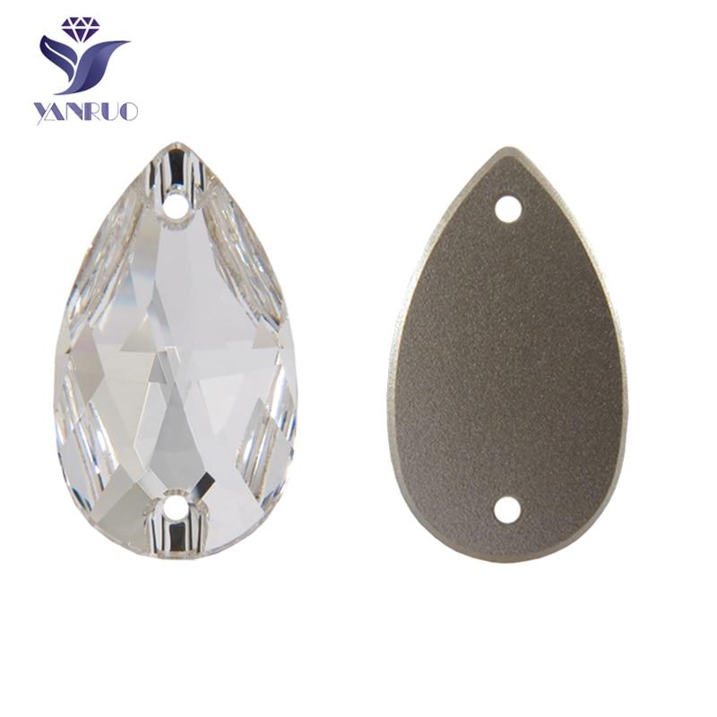 """""""YANRUO 3230 Drop Sew On Rhinestones"""" Strass akmenys ir kristalai Aukščiausios kokybės akmenys Taikomi siuvimo akmenys drabužių siuvimui"""