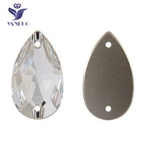 YANRUO 3230 Drop Sew On Rhinestones Strass Stones And Crystals Top Quality Stones Applique Sewing Stones For Clothes Needlework