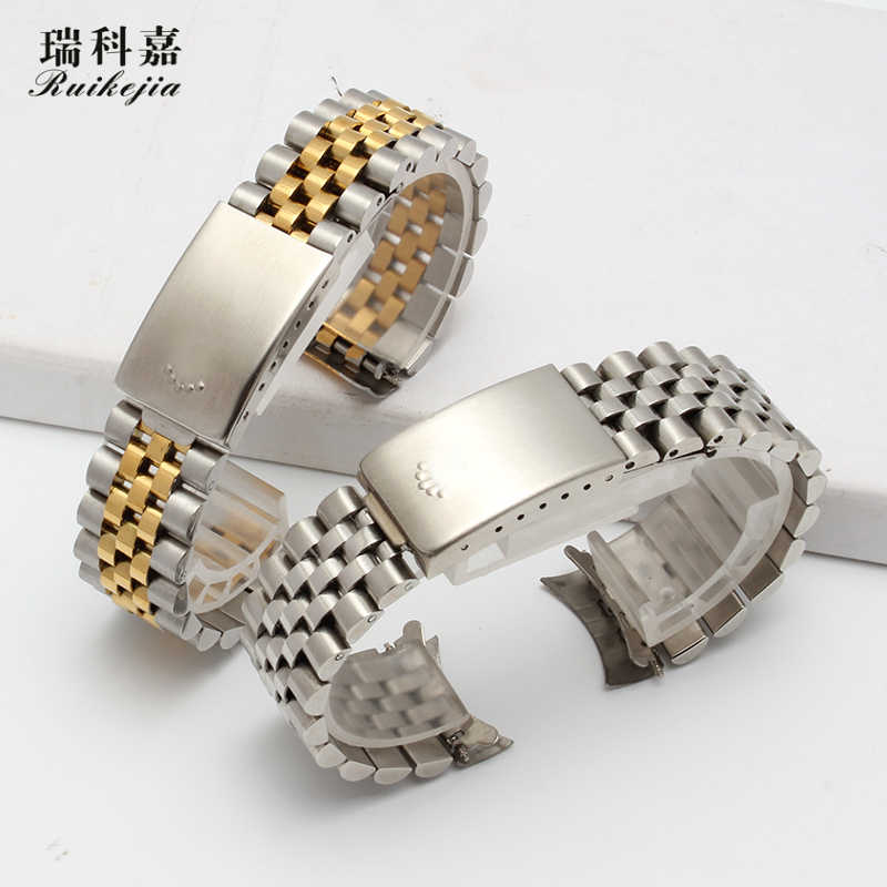 Applicable to Rx log steel strip 16234 constant motion men and women watch strip steel strap metal bracelet 13MM 17MM 19MM 20MM