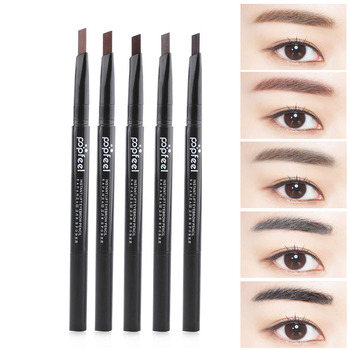 1pc New Women Ladies Waterproof Double Head Makeup Automatic Eyebrow Pencil with Eye Brows Brush Makeup Cosmetic Beauty Tools Makeup
