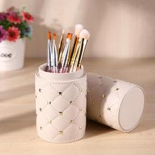 PU Leather Travel Makeup Brushes Bag Pen Holder Storage Empty Holder Cosmetic Brush Bag Brushes Organizer Make Up Tools Dropship цены