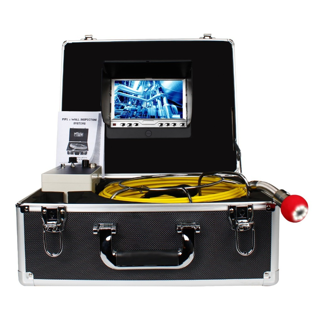 Pipe Pipeline Inspection Camera,Drain sewer Industrial Endoscope HBUDS PIC20 Waterproof IP68 Snake Video System 1000TVLwith 20M dhl free wp90 50m industrial pipeline endoscope 6 5 17 23mm snake video camera 9 lcd sewer drain pipe inspection camera system