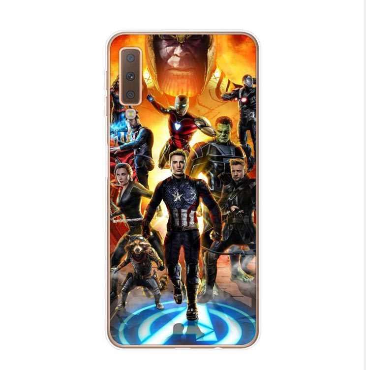 Capa de celular homem-aranha para samsung, capa de silicone do filme hero comics deadpool, homem de ferro, venom, a30, a50, a10, a7 a750 a6 a8 plus 2018