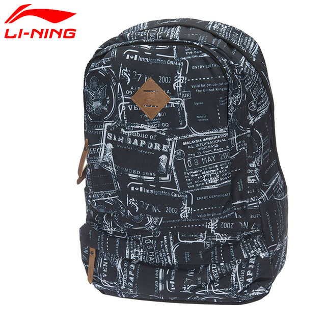Li-Ning Unisex Urban Sport Backpack Polyester Classic Leisure City Jogging Bag LiNing Sports Bag ABSM064 BBF228