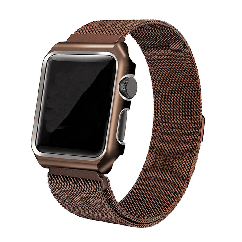 For Apple Watch 2/3 Series Stainless Steel Milanese Watchband + Watch Frame Bracelet Watch Band Strap for Iwatch Belt 38mm 42mm
