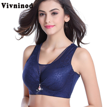 Large Size Bra Wide Soft Push Up Bras For Women Underwear Lace Sexy Vest Bra Big Size lingerie Plus Brassiere C D Bh Women Bras