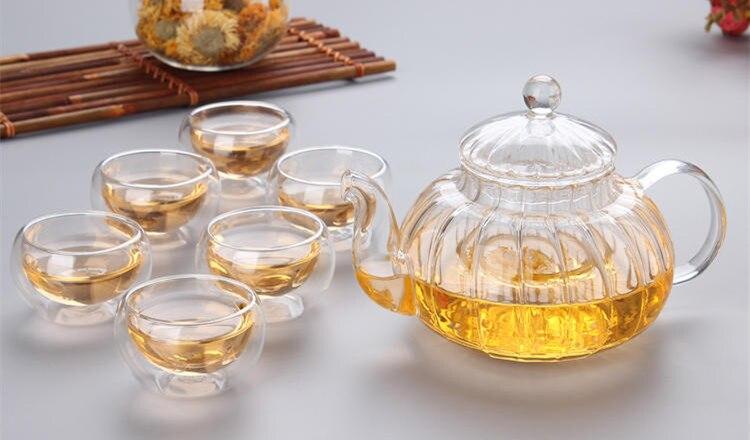 Vidro Conjunto de Vidro Quente titular Chá