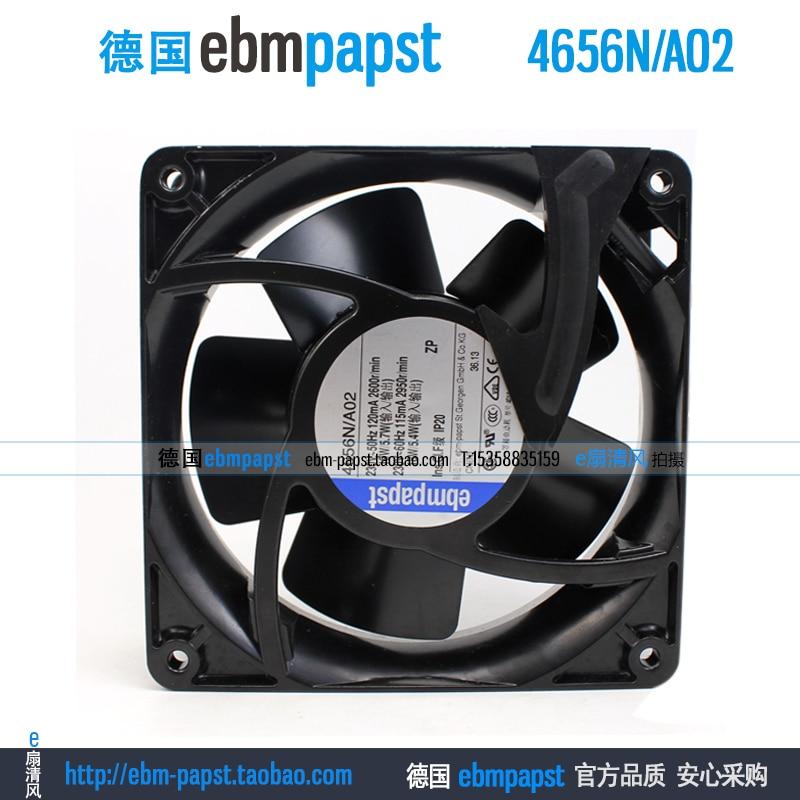 ebm papst 4656NA02 4656N/A02 AC 230V 0.12A 0.115A 19/18W 120x120x38mm Server Square Fanebm papst 4656NA02 4656N/A02 AC 230V 0.12A 0.115A 19/18W 120x120x38mm Server Square Fan