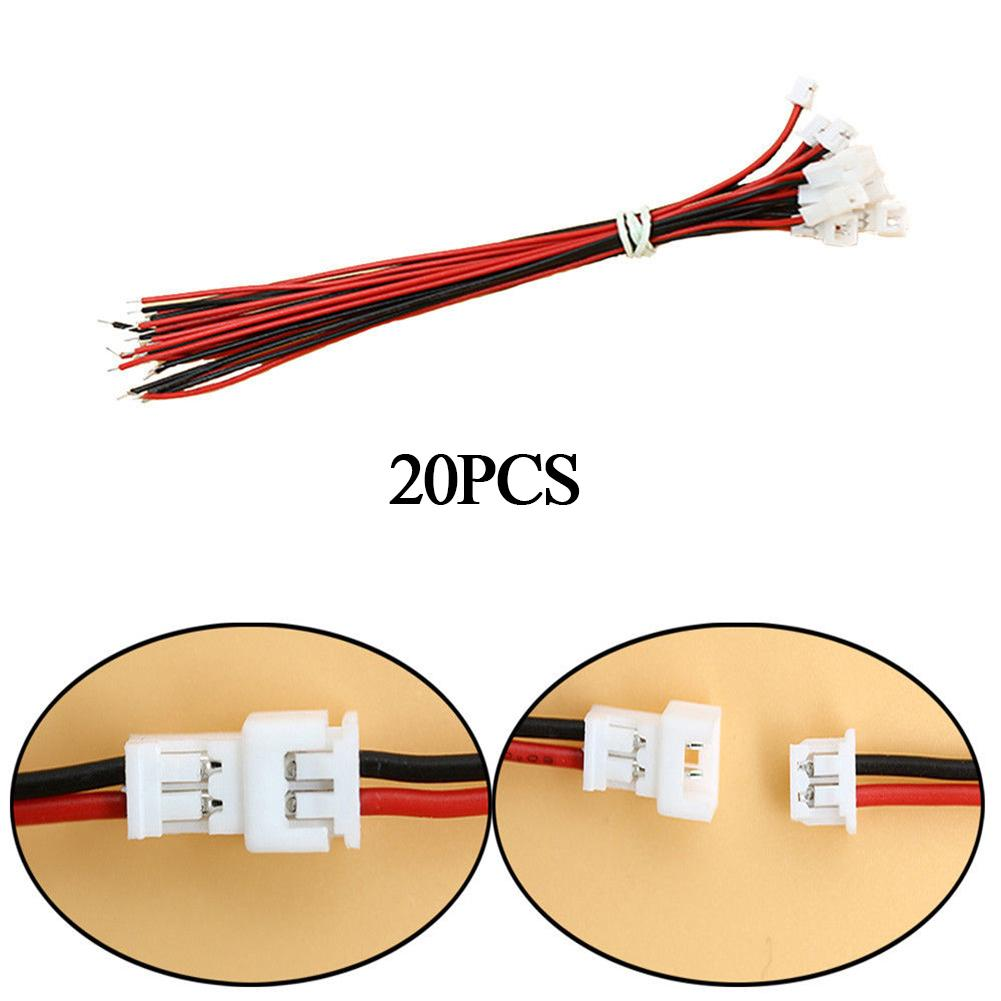 NEW 20Pcs 1s Lipo Battery Charging Cable Male & Female XH Plug Connectors RC Drop shipping