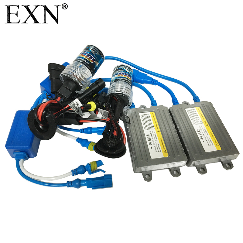 55W AC Quick Start Xenon HID Conversion kit H1 H3 H7 H8 H10 H11 H9 H11 H13 9005 9006 9007 Bulb With Silm Ballast HID Xenon Lamp cnsunnylight 38w xenon hid kit canbus quick start bright smart ballast all colors 4300k 6000k replacement bulb h1 h3 h4 h7 h11