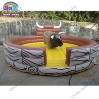 Cowboy Grazy Games Bull Rodeo Inflatable Bull For Outdoor Playground inflatable rodeo bulls with mattress