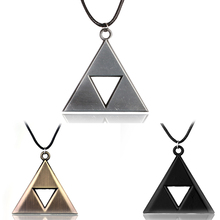 Moive The Legend of Zelda  Pendant Necklace Silver Bevel Legend Factory Direct Sale  for Mother's day