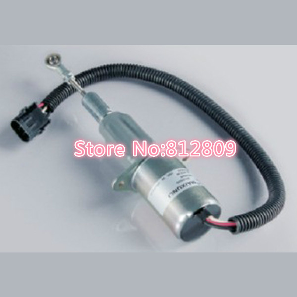 Fuel Shut Off Solenoid 3934177 SA-4697-24 ,24V Free Shipping fuel stop shut off solenoid sa 3796 12 free shipping