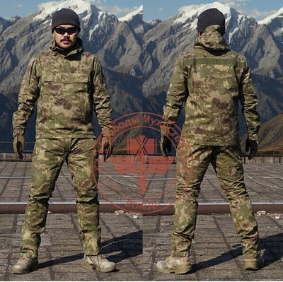Camouflage Frog Suit Men Outdoor Army Military Uniform Tactical Navy Combat CS Sets (Jacket Pants) Multicam Size M 2XL