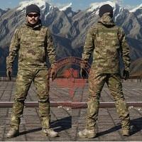 Camouflage Frog Suit Men Outdoor Army Military Uniform Tactical Navy Combat CS Sets (Jacket Pants) Multicam Size M 2XL
