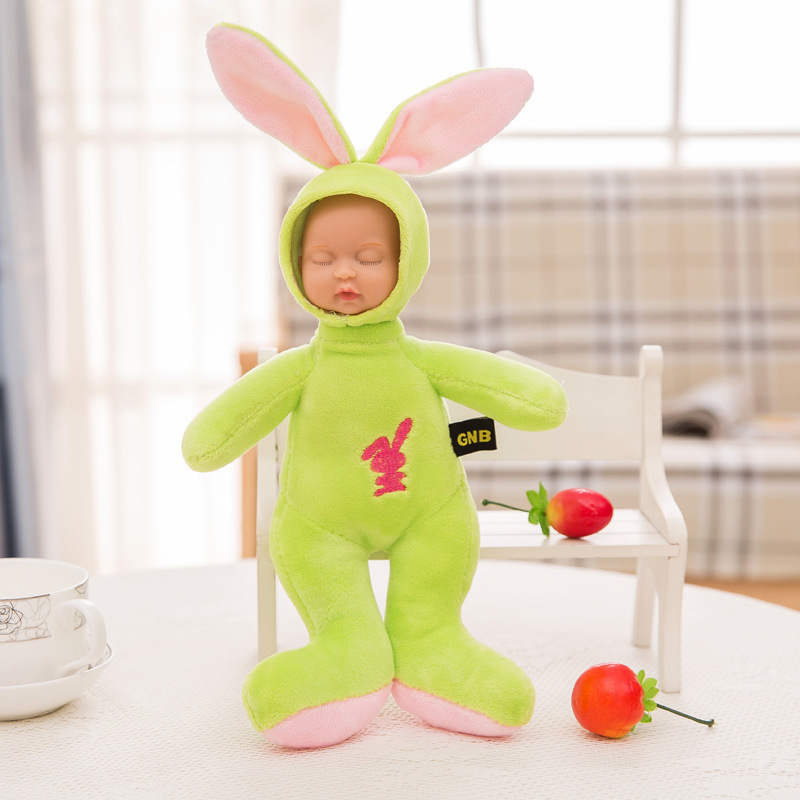 Stuffed e Plush Animais doll simulated babies sleeping dolls Size : About 25cm