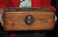wedding decoration China Huanghuali wood carved longevity peach bat Jewelry Box storage box Boxes