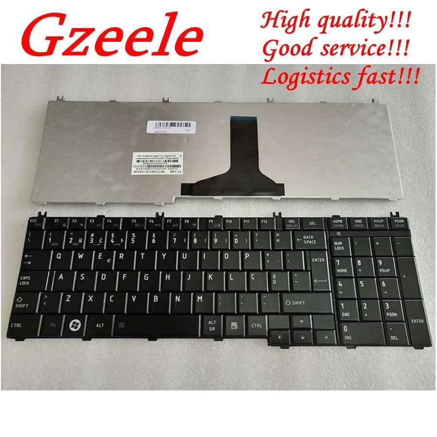 Gzeele Bahasa Portuges/Po Pengganti Keyboard Keyboard Laptop untuk Toshiba L750 L750D L755D L760 L770D L775 C650 L650 L650D L655 l670