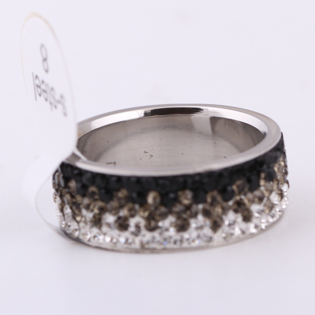 Charms Rings For Women AAA Crystal Elegant Stainless Steel Rings