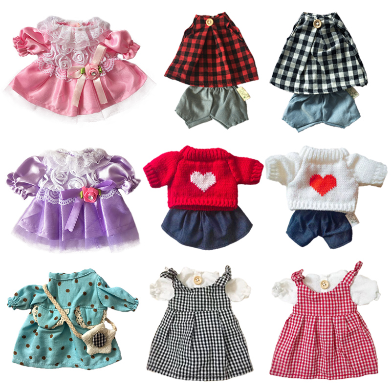 30cm Doll Clothes For Rabbit/Cat/Bear Plush Toys Dress Skirt Sweater Play House Accessories For 1/6 Dolls Girls Kids Toys Gifts