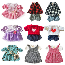 30cm Doll Clothes for Rabbit/Cat/Bear Plush Toys Dress Skirt Sweater Play House Accessories for 1/6