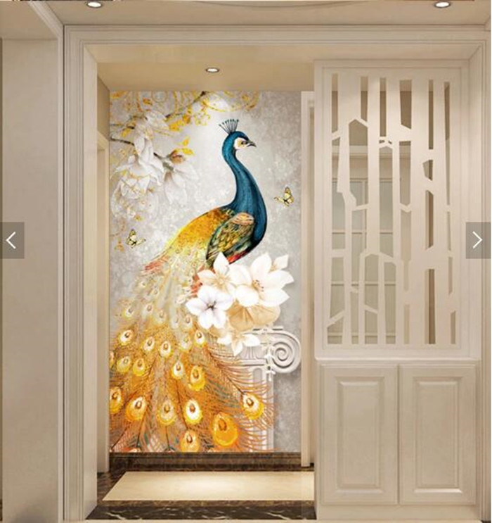 Beautiful peacock 5d DIY round Diamond Painting full squar Cross Stitch Diamond Embroidery home Decorative gift animal bird