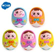 HOLA 979 Baby Toys Rattles Nodding Matlyoshka Tumbler Doll S
