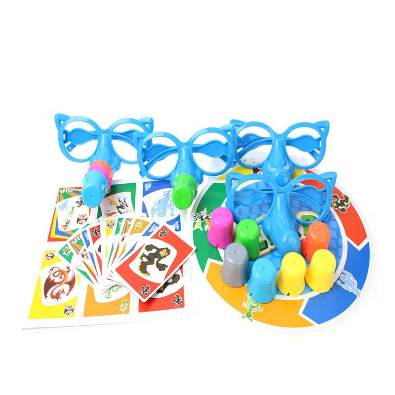 Gags & Practical Jokes Guess Who Lies Table Game ABS Plastic 2-4 players 4 Eyeglasses 24 Cards 11 Noses 1 Game Board family game