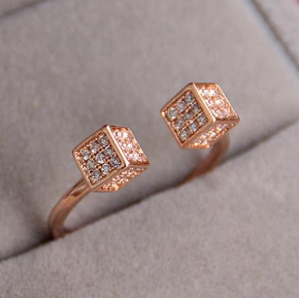 New RGP Fashion plated gold color plated zircon crystal rings For Women wholesale Wedding Gifts B14D25211 ABC