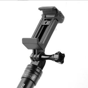 Image 2 - 휴대 전화 클립 마운트 브래킷 클램프 삼각대 어댑터 이동 프로 아이폰 xiaomi 화웨이 selfie 스틱 monopod 막대 홀더 액세서리