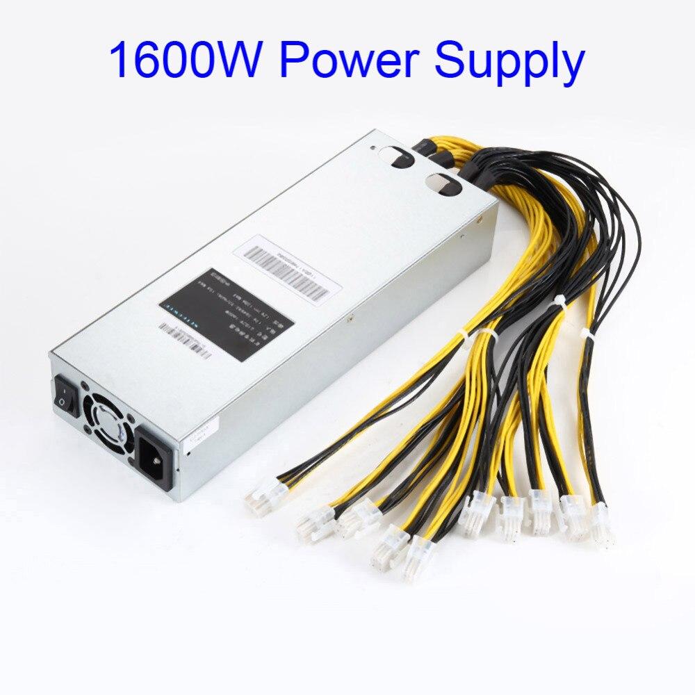 6PIN * 10 1600 W APW3 Alimentation Minière Pour Bitcoin Mineur S9 S7 L3 + D3 EM88