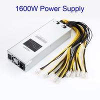 6pin * 10 1600 Вт apw3 добыча Питание для Bitcoin Miner S9 S7 L3 + D3 em88