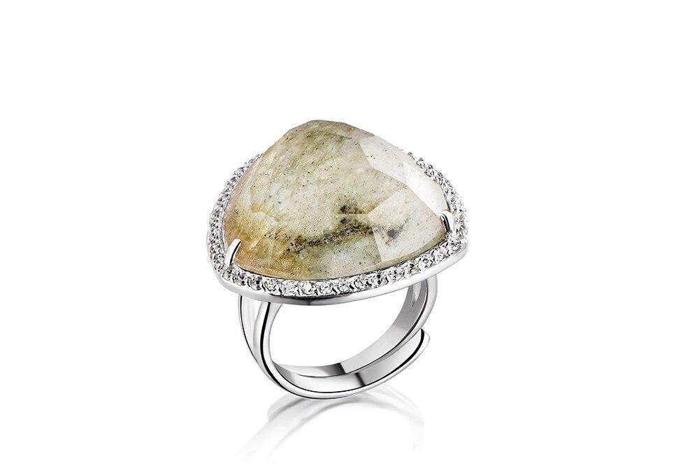DORMITH 925 sterling zilver droom Natuurlijke Aventurijn steen edelsteen ringen voor vrouwen vinger grootte rejustable-in Ringen van Sieraden & accessoires op  Groep 1