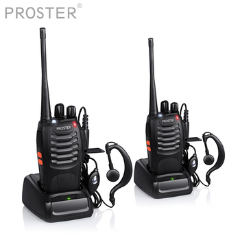 Proster 2 PCS for UHF 400-470MHZ walkie talkie two way radio UHF 400-470MHz 16CH Portable Transceiver with Earpiece Walkie