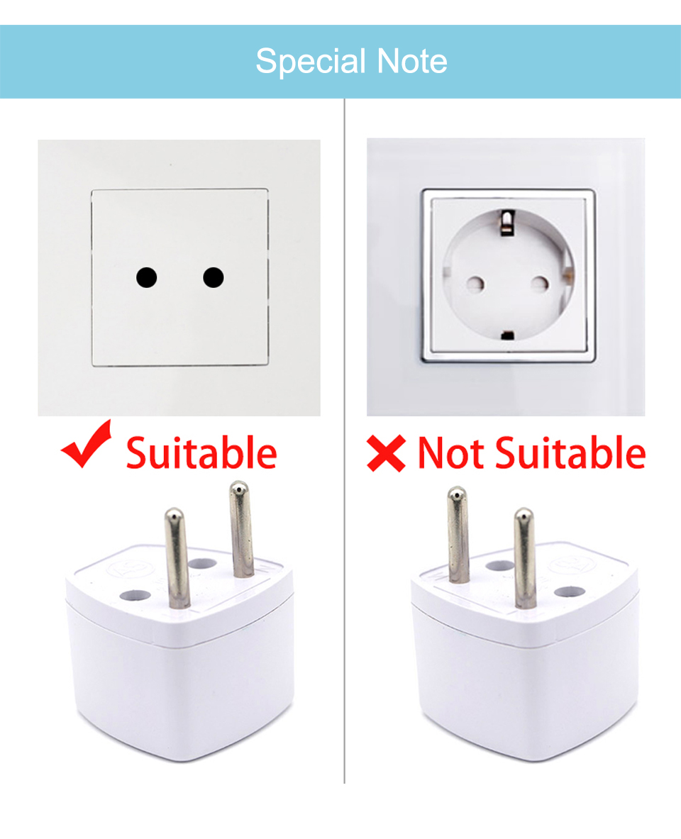 New Arrival 1 PC Universal UK US AU to EU AC Power Socket Plug Travel Electrical Charger Adapter Converter Japan China American (10)