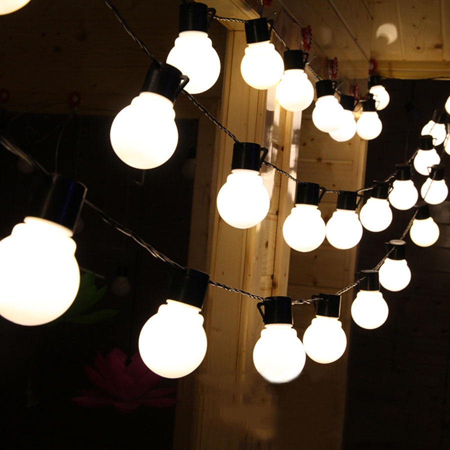 5M 20pcs 5CM Big Ball Led String Light Christmas Fairy String Garland  AC220V 110V Warm White Multicolor Outdoor Decoration Light